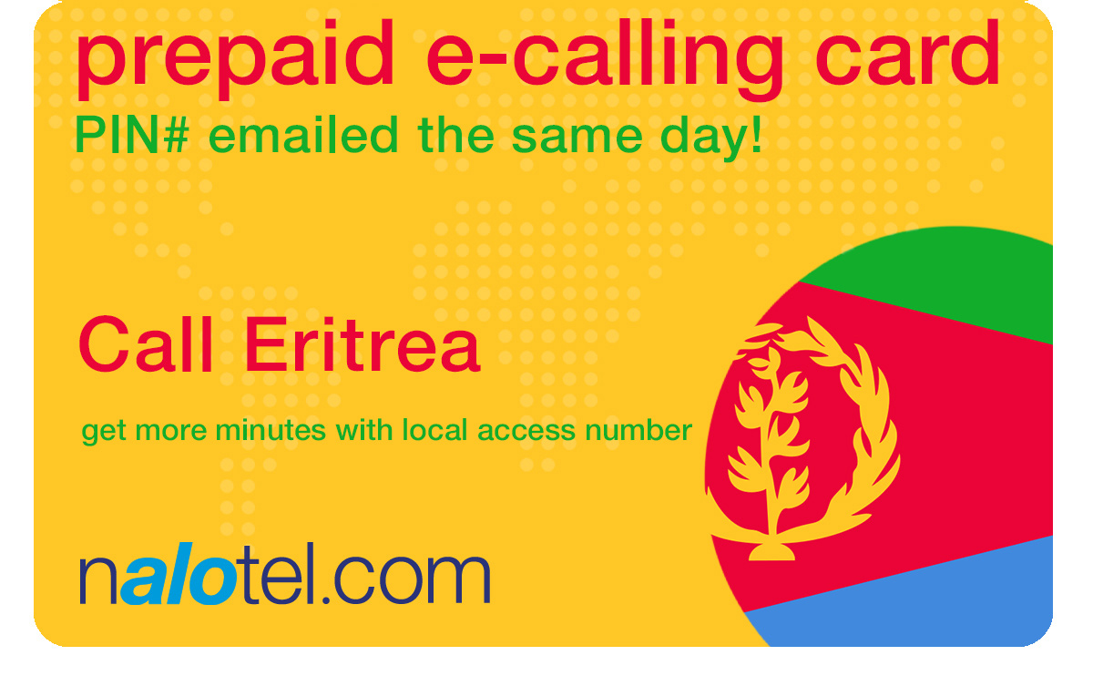 international calling card to eritrea from USA & Canada