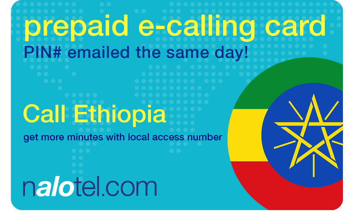 international calling card to ethiopia from USA & Canada