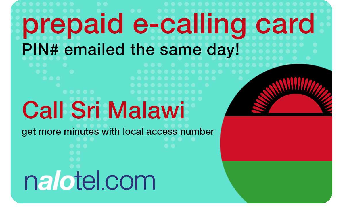 international calling card to malawi from USA & Canada