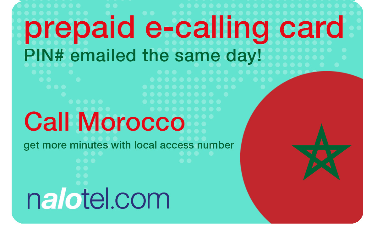 international calling card to morocco from USA & Canada