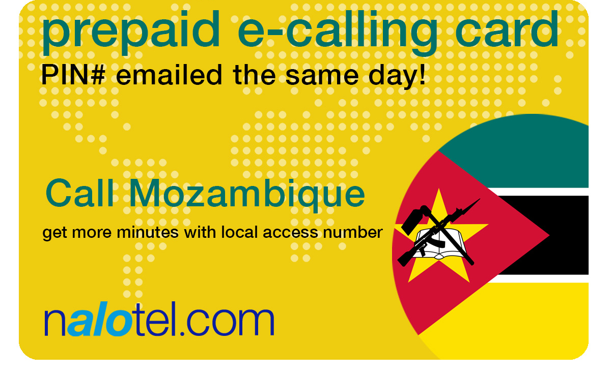 international calling card to mozambique from USA & Canada