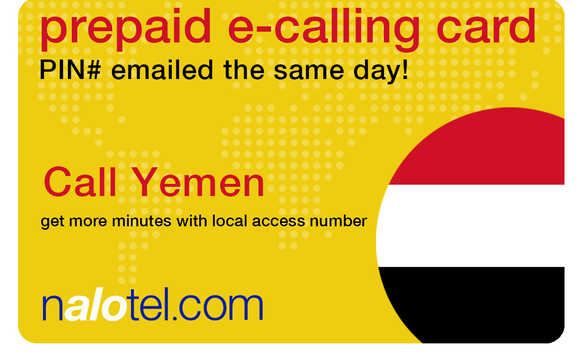 international calling card to yemen from USA & Canada